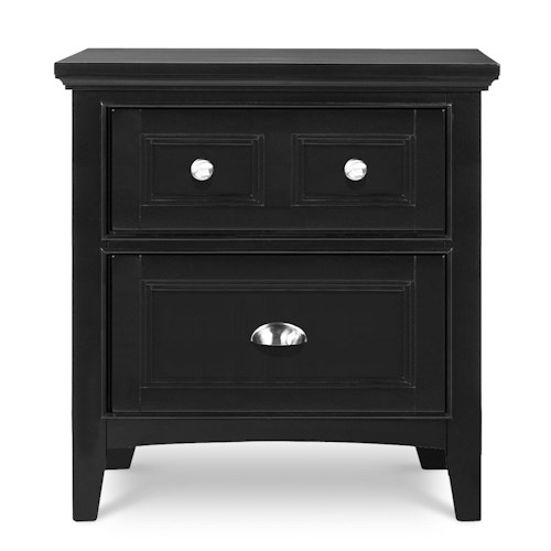Next Generation by Magnussen Cooper Two-Drawer Nightstand with Touch Lighting and Charging Station