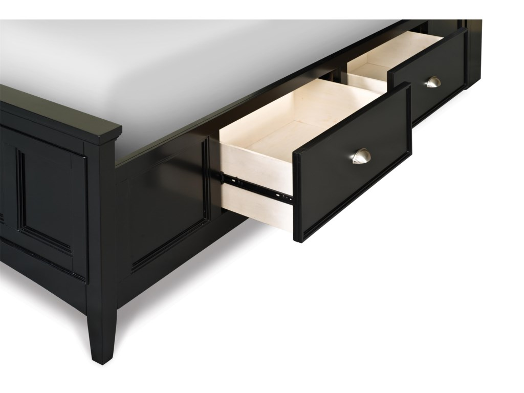 Next Generation by Magnussen Beck BlackTwin Panel Bed with 2 Storage Rails