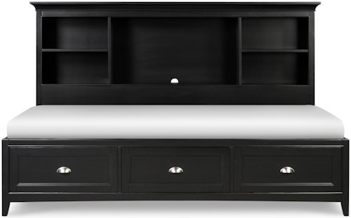 Next Generation by Magnussen Bennett Full Lounge Bed with Bookcase Headboard