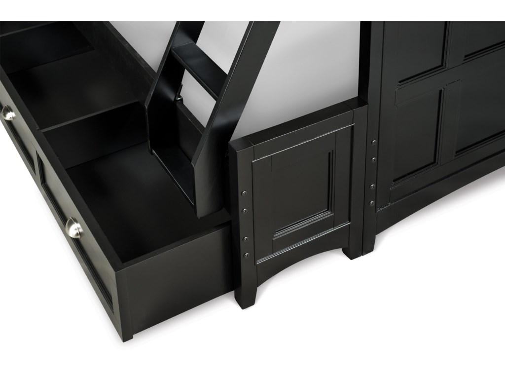 Next Generation by Magnussen Beck BlackTwin-over-Twin Bunk