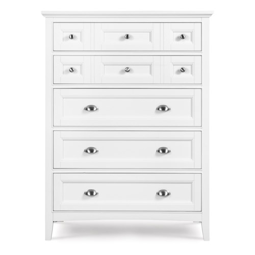 Next Generation by Magnussen Kenley Five-Drawer Chest with Recessed Panels and Nickel Hardware