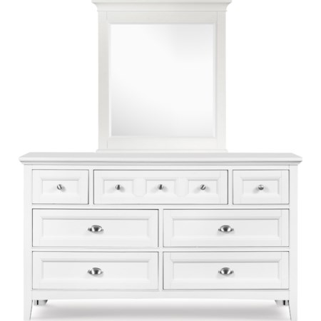 Drawer Dresser and Portrait Mirror
