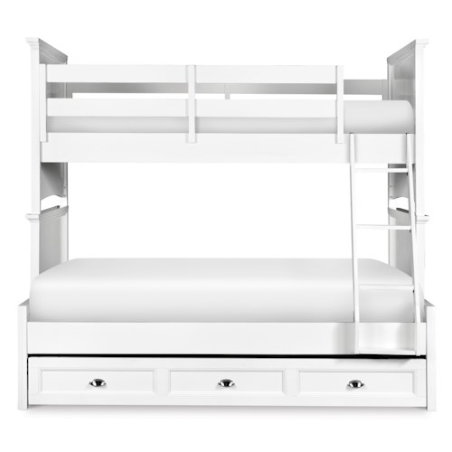 Next Generation by Magnussen Kenley Twin-over-Full Bunk with Trundle Drawer
