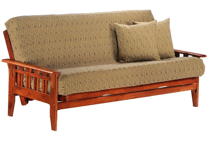 Kingston Dark Cherry Chair Size Futon