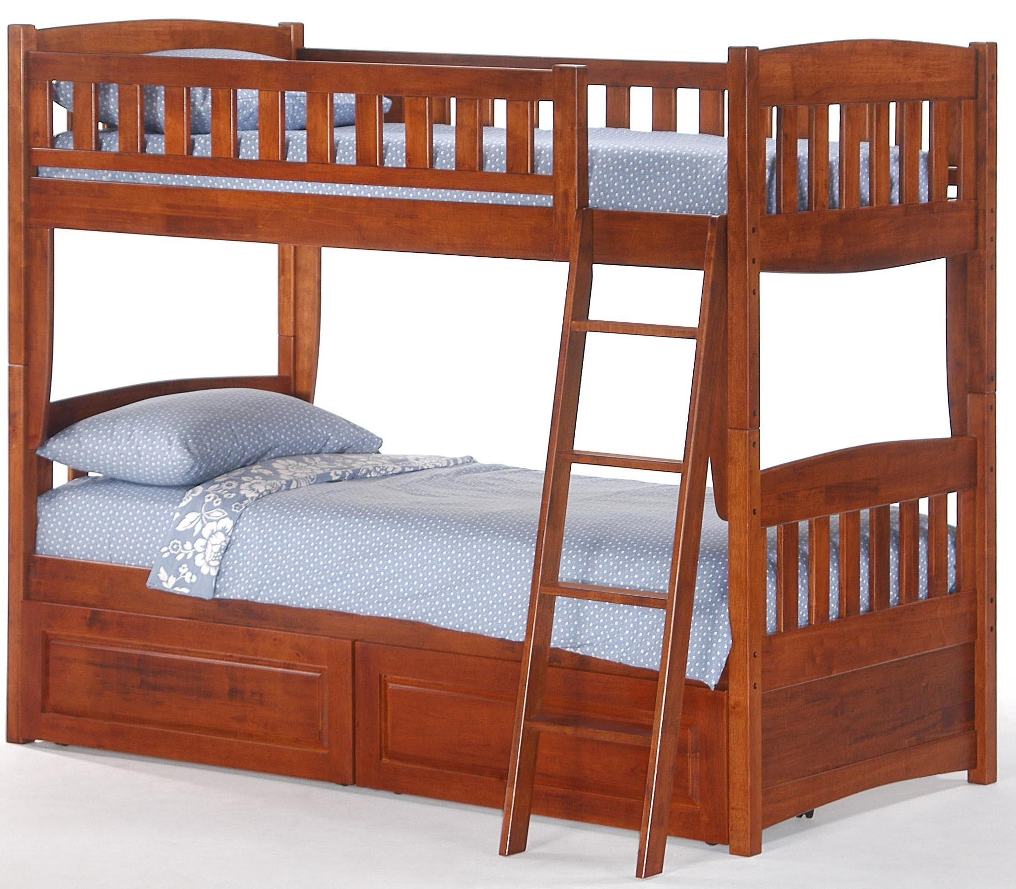 Night U0026 Day Furniture SpiceTwin Bunk Bed With Storage Drawers ...