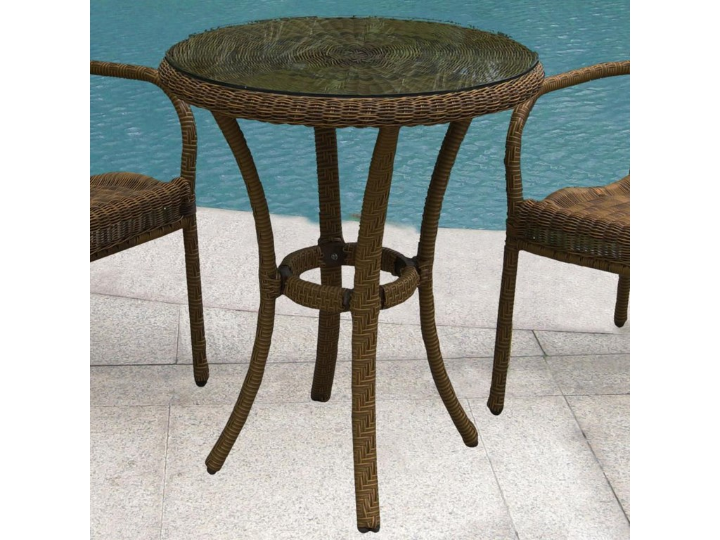 Northcape International Avalon 24 Bistro Table W Gl Becker Furniture World Outdoor