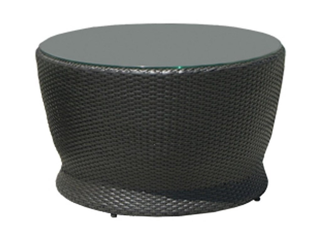 Cabo Patio Furniture.Chicago Wicker Cabo Round Chat Table With Glass Top Becker