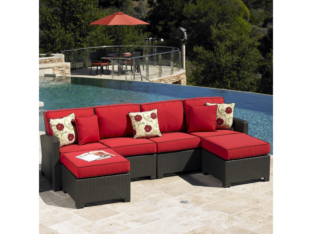 Cabo Patio Furniture.Chicago Wicker Cabo Contemporary Outdoor Sectional Becker