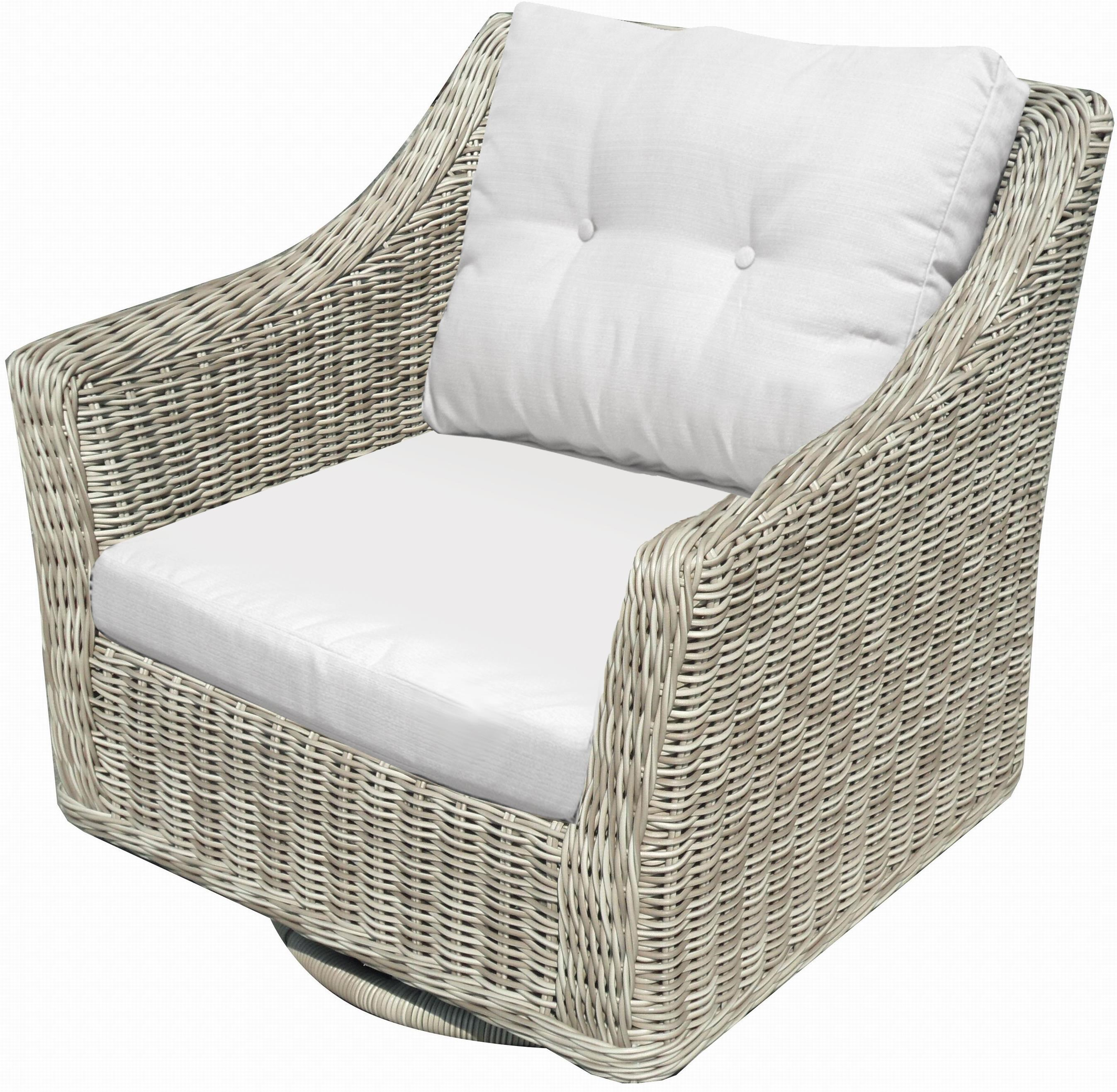 NorthCape International Cambria Swivel Rocker Chair With With Resin Weave    John V Schultz Furniture   Outdoor Upholstered Chair