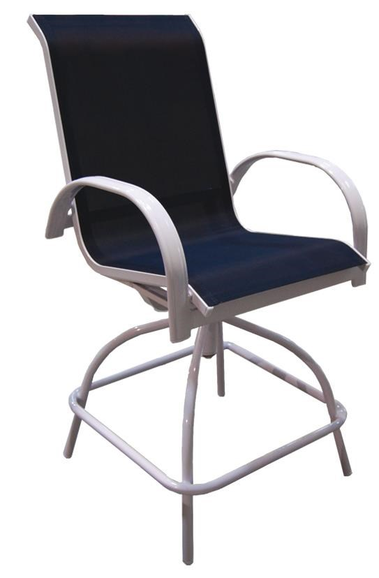 Capri Sling Counter Height Swivel Chair By NorthCape International