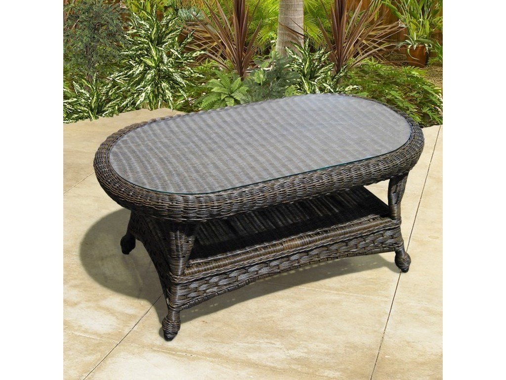 Georgetown Nc Outdoor Coffee Table With Gl Top By Northcape International