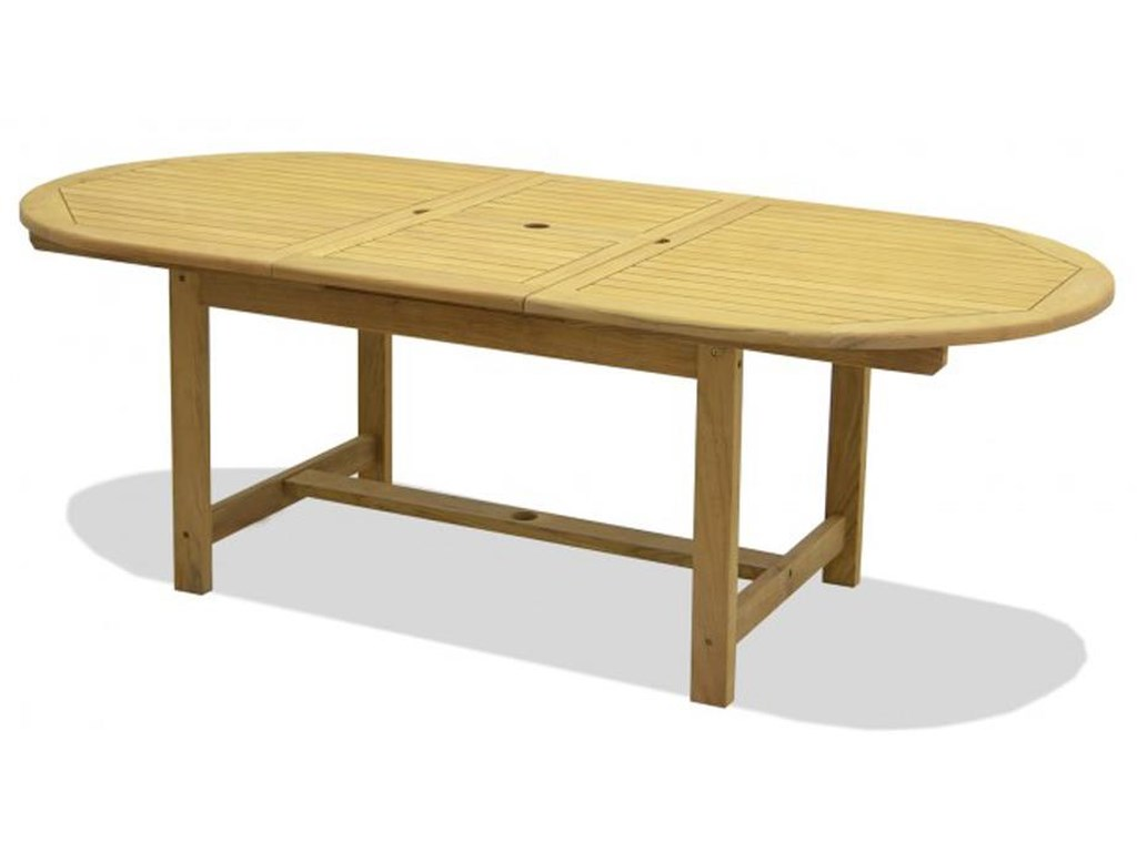 Chicago Wicker TeakJameson Extension Dining Table