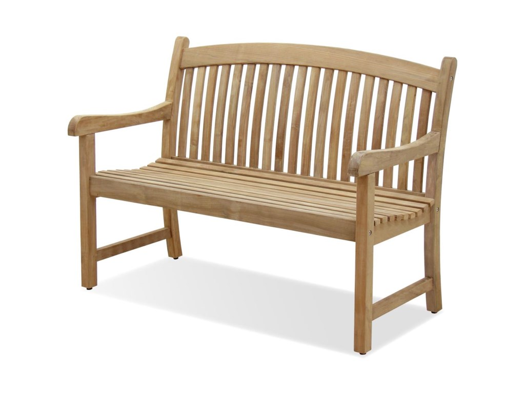 NorthCape International Teak Solano Two Seater Dining Bench - North cape outdoor furniture