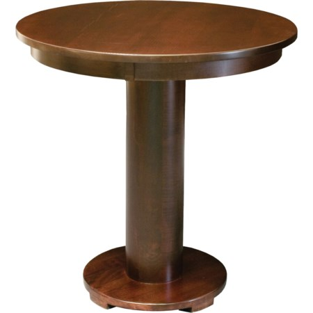 "Customizable 48"" Solid Wood Pub Table"
