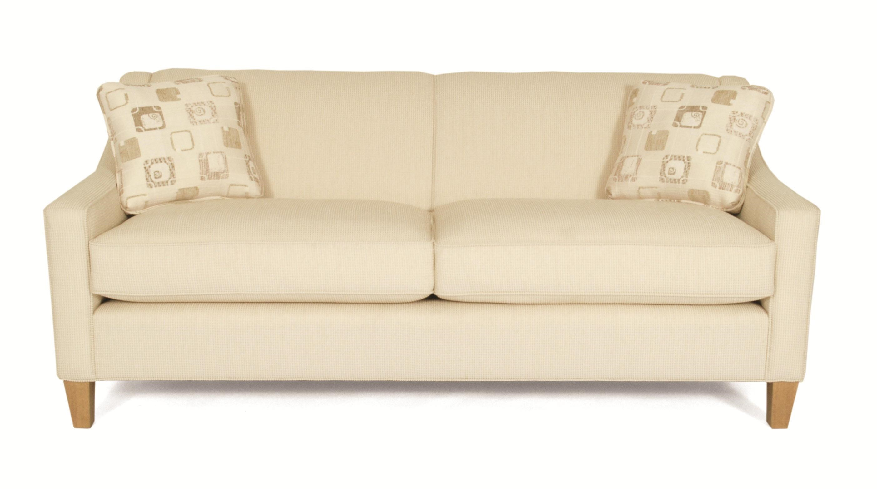 Blake 716 Contemporary Stationary Sofa With Track Arms And Welted Seat  Cushions By Norwalk