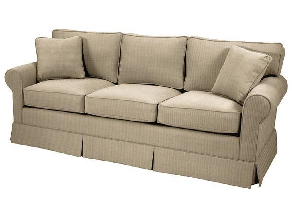 Copley Square Skirted Queen Sleeper Sofa By Norwalk At Dunk Bright Furniture