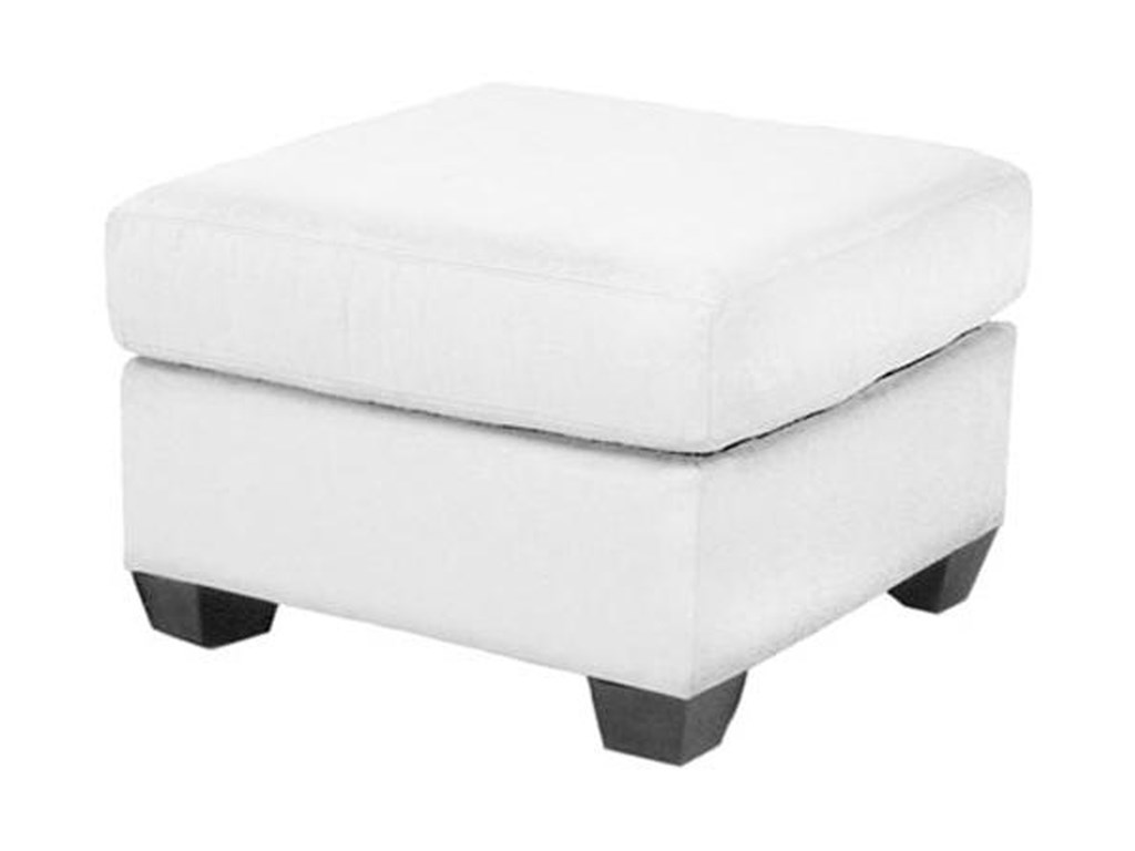 Heather Contemporary Storage Ottoman With Tapered Block Feet By Norwalk