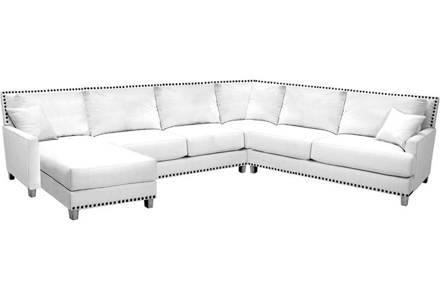 Norwalk Linkin Sectional Sofa With Chaise And Optional Nail Head Trim Lagniappe Home Store Sectional Sofas