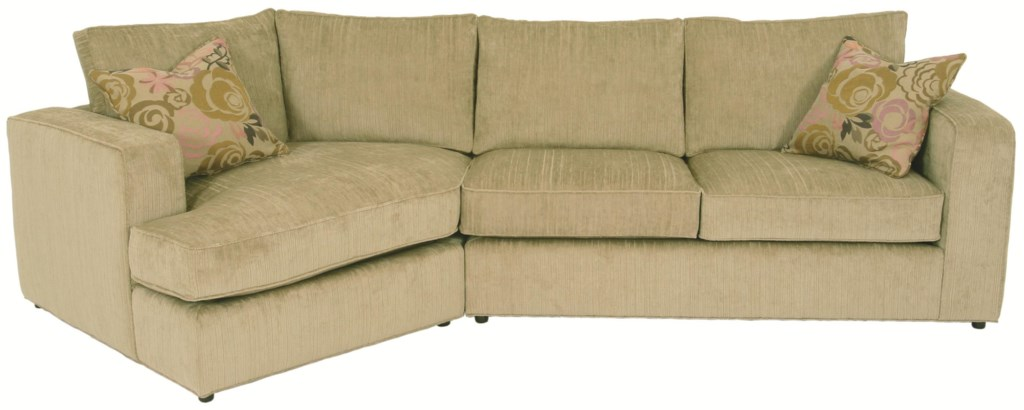 Norwalk Milford Sectional Sofa With Track Arms Loose Back Cushions