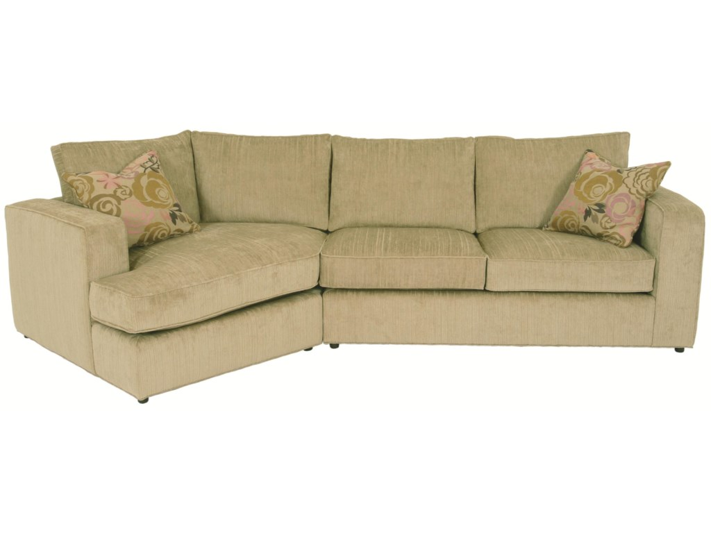 Ord Sectional Sofa With Track Arms Loose Back Cushions And Angled Chaise By Norwalk