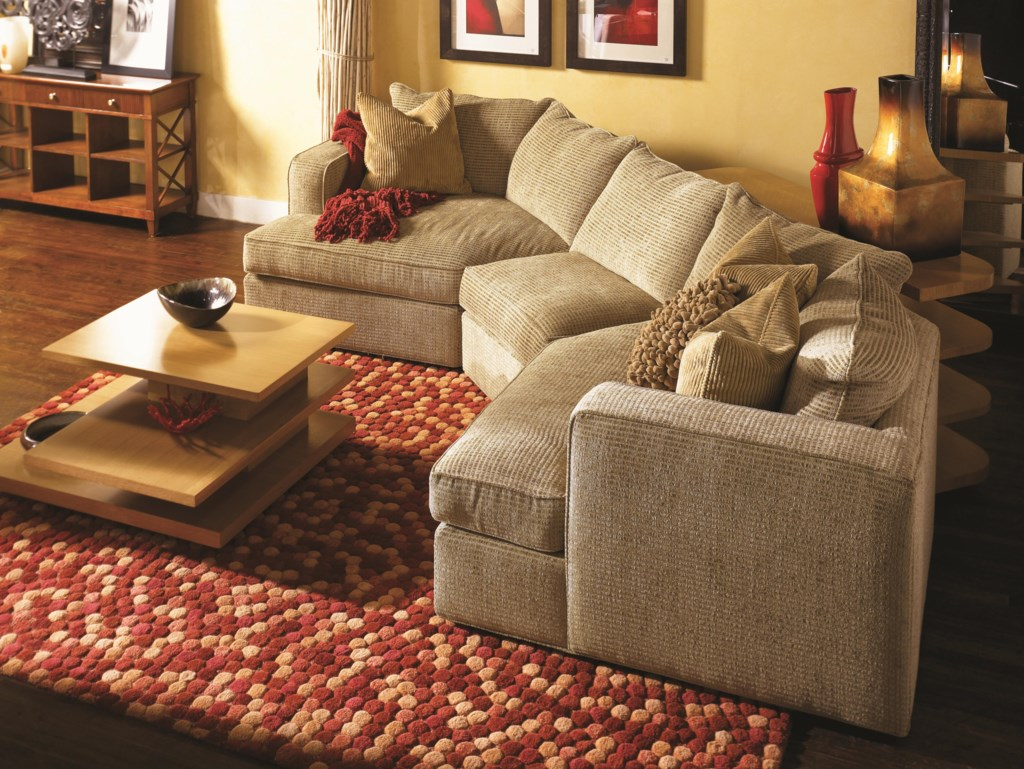 Norwalk Milford Sectional Sofa With 2 End Angle Chaises And Track