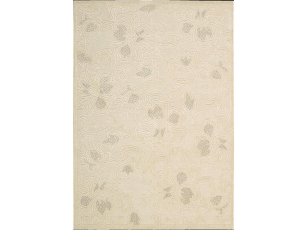 Nourison Graphic5.3 x 7.5 Area Rug : Cream