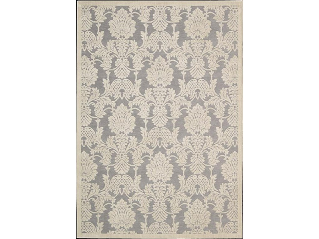 Nourison Graphic5.3 x 7.5 Area Rug : Nickel
