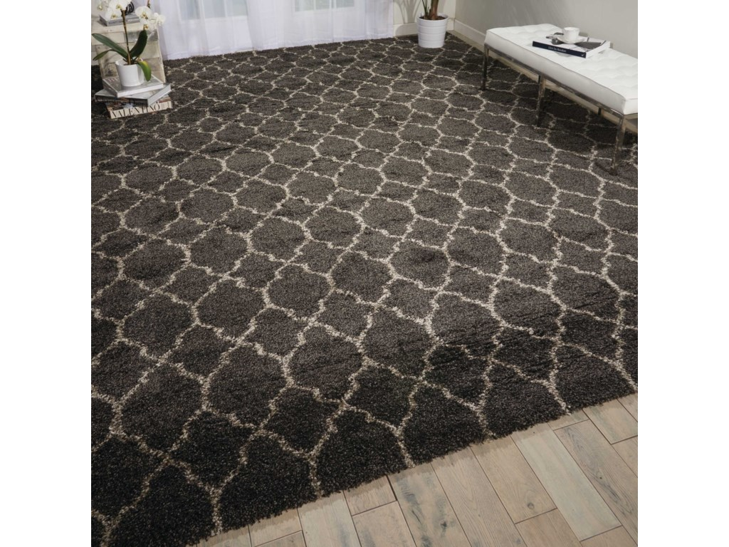 Nourison Amore10' x 13' Charcoal Rectangle Rug