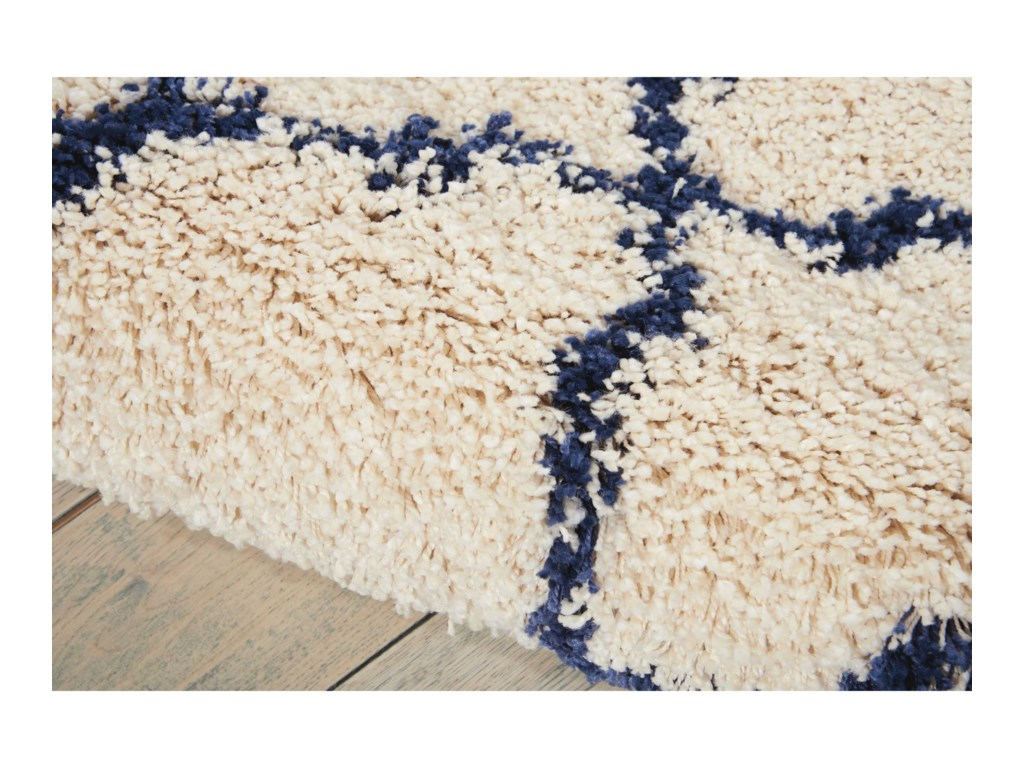 Nourison Amore10' x 13' Ivory/Blue Rectangle Rug