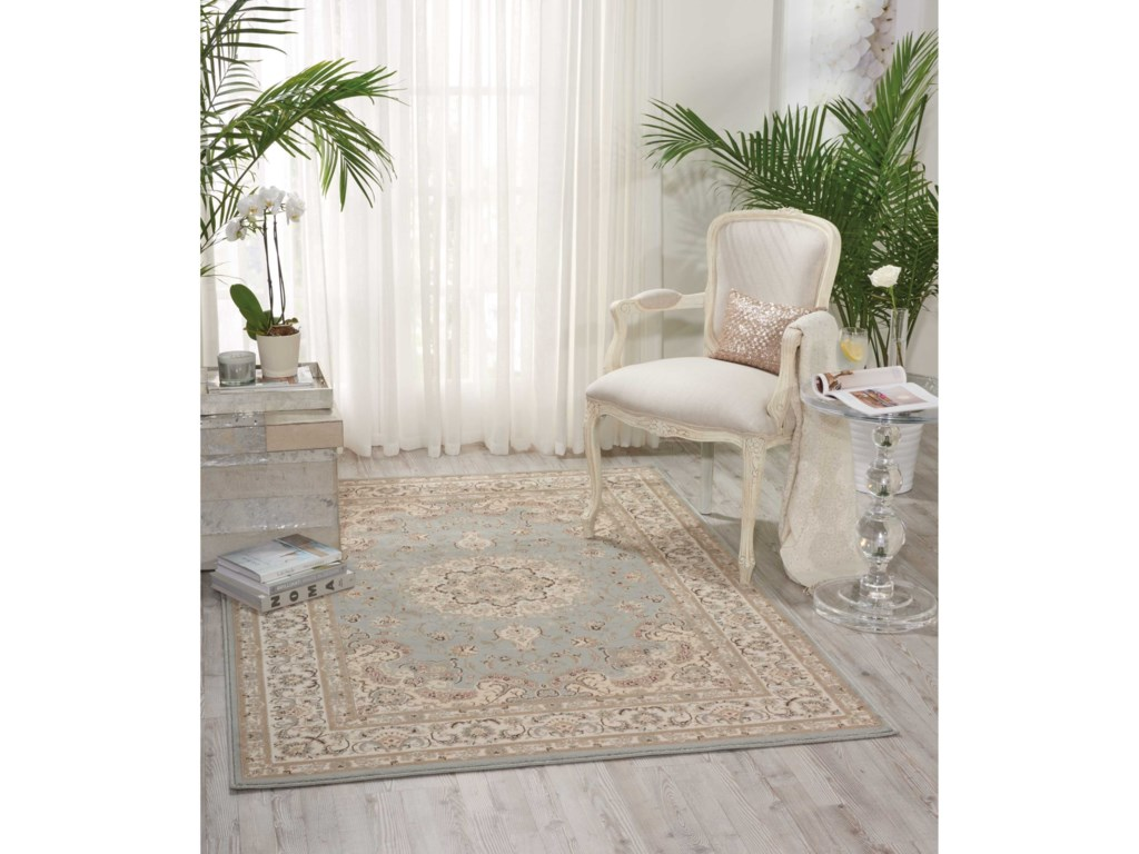 Nourison Ararat5' x 7' Light Blue Rectangle Rug
