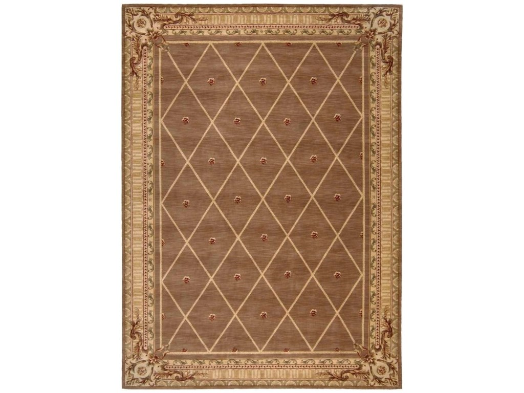 Nourison Ashton House As03 Coc 96x13 9 6 X 13 Cocoa Rectangle Rug Baer S Furniture Rugs