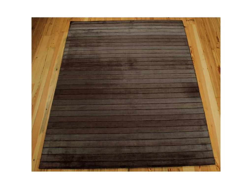 Nourison Aura8' x 11' Chocolate Rectangle Rug