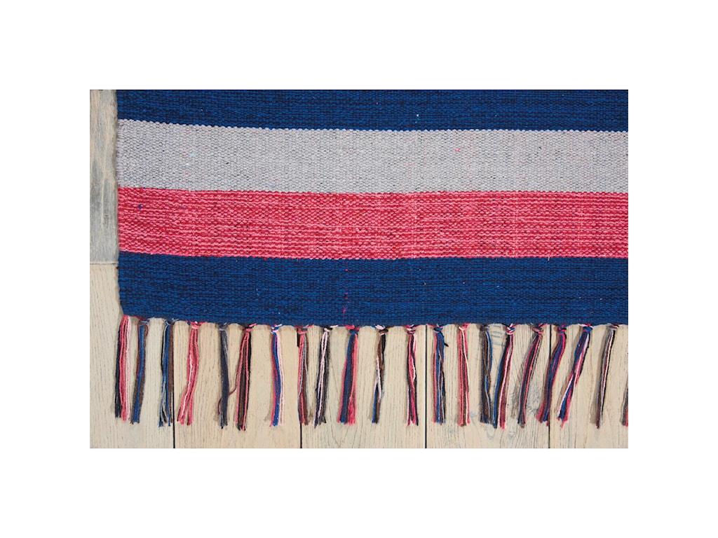 Nourison Baja5' X 7' Pink/Blue Rug