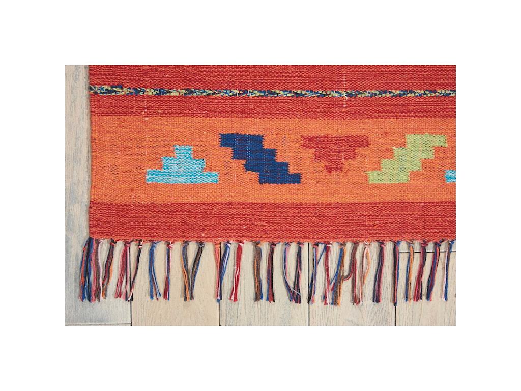 Nourison Baja5' X 7' Orange/Red Rug