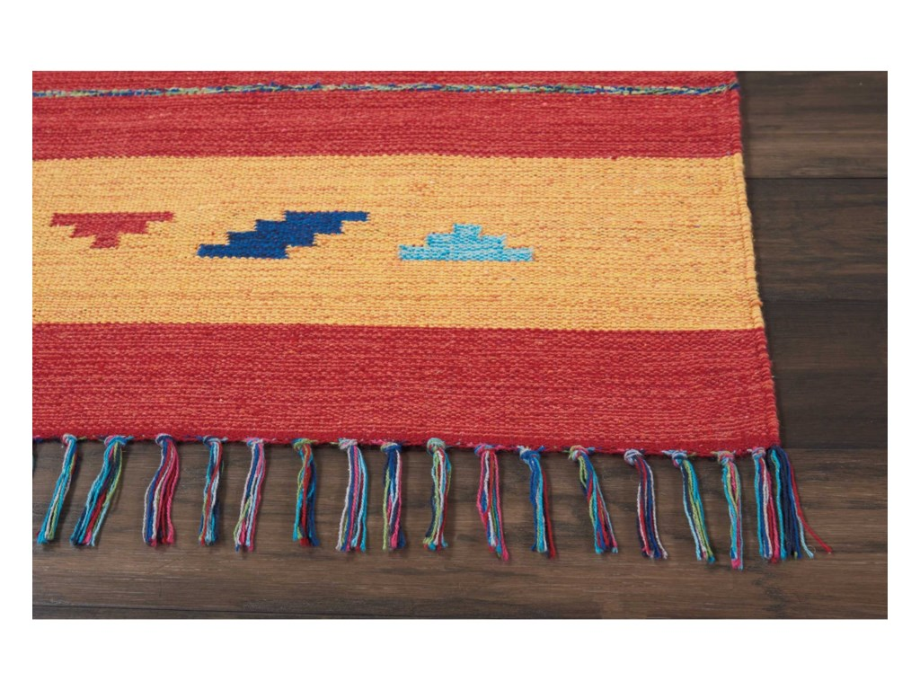 Nourison Baja8' X 10' Orange/Red Rug