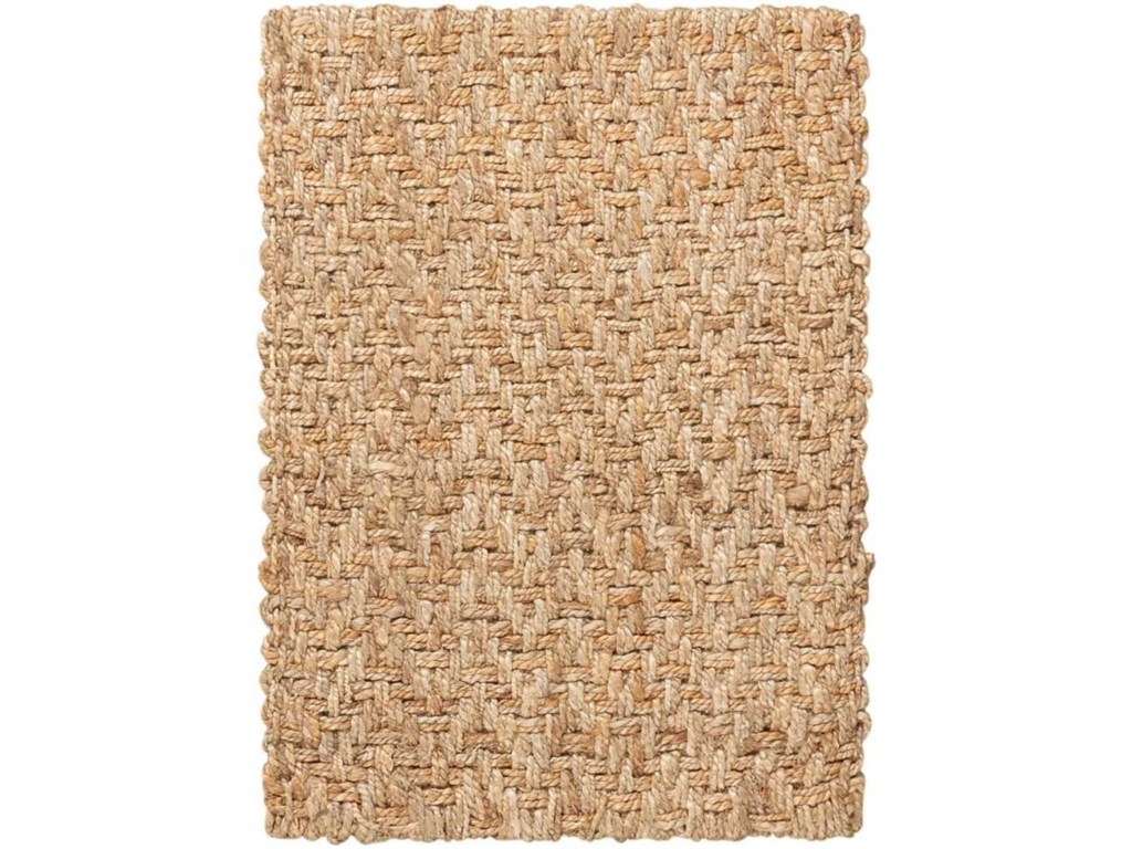 Nourison Basketweave2' x 3' Natural Rectangle Rug