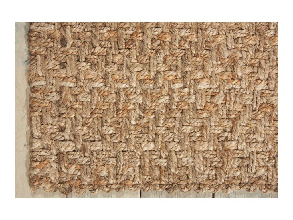 Nourison Basketweave2' x 3' Silver Rectangle Rug