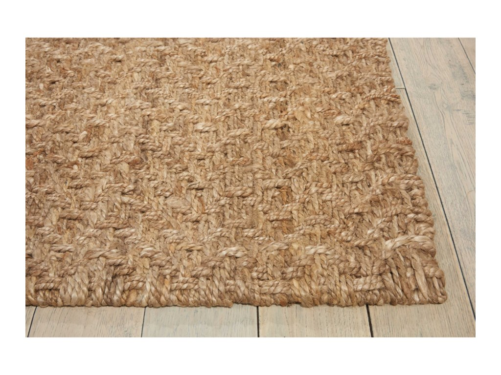 Nourison Basketweave5' x 7' Silver Rectangle Rug
