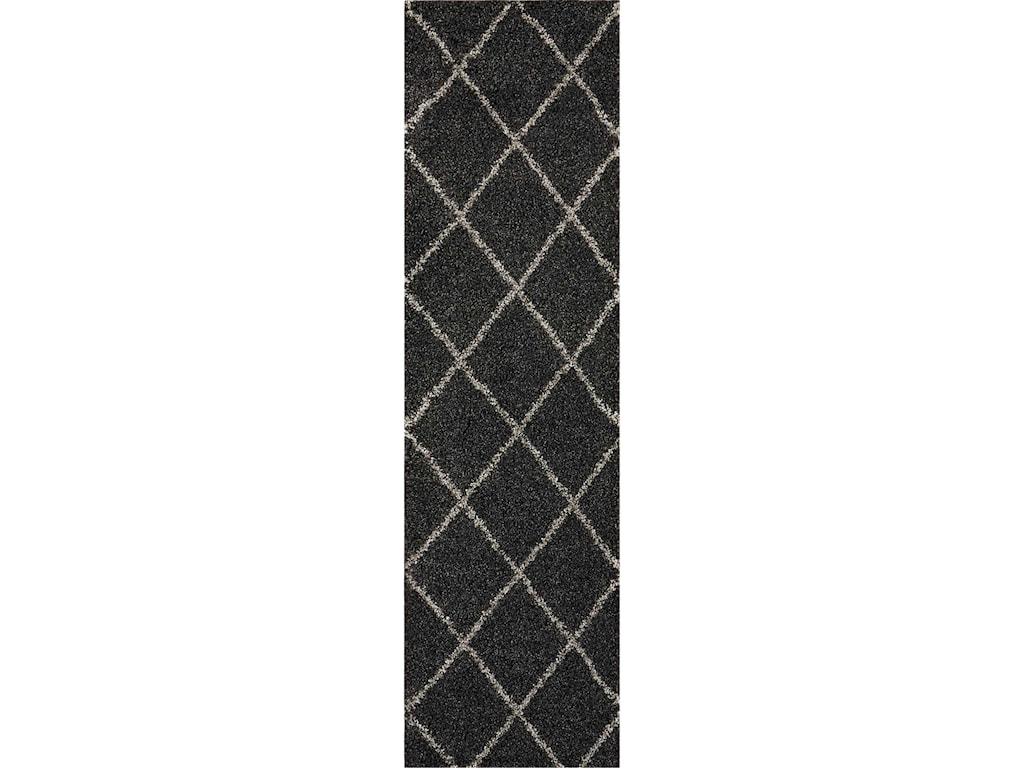 Nourison Brisbane2' X 6' Charcoal Rug
