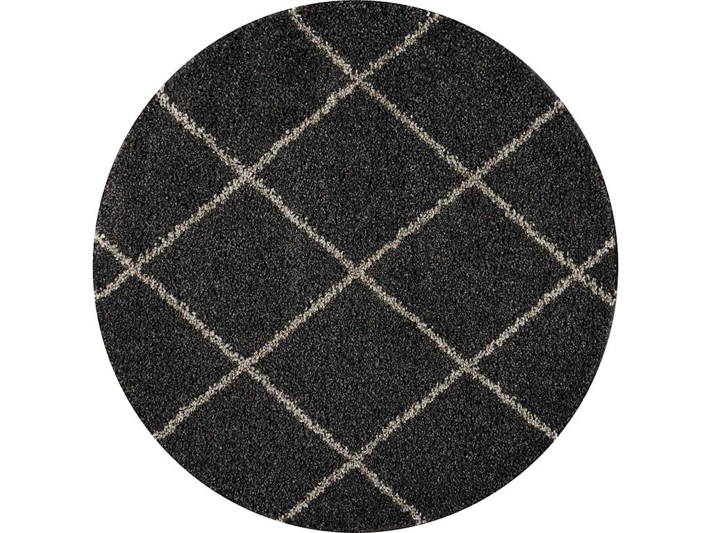 Nourison Brisbane4' X 4' Charcoal Rug