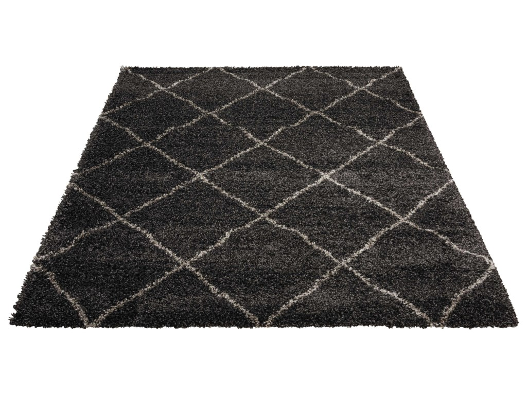 Nourison Brisbane5' x 7' Charcoal Rectangle Rug