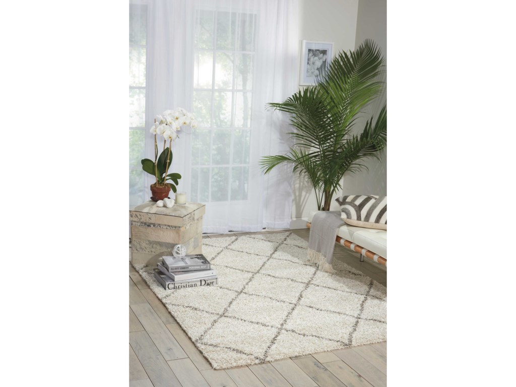 Nourison Brisbane5' x 7' Cream Rectangle Rug