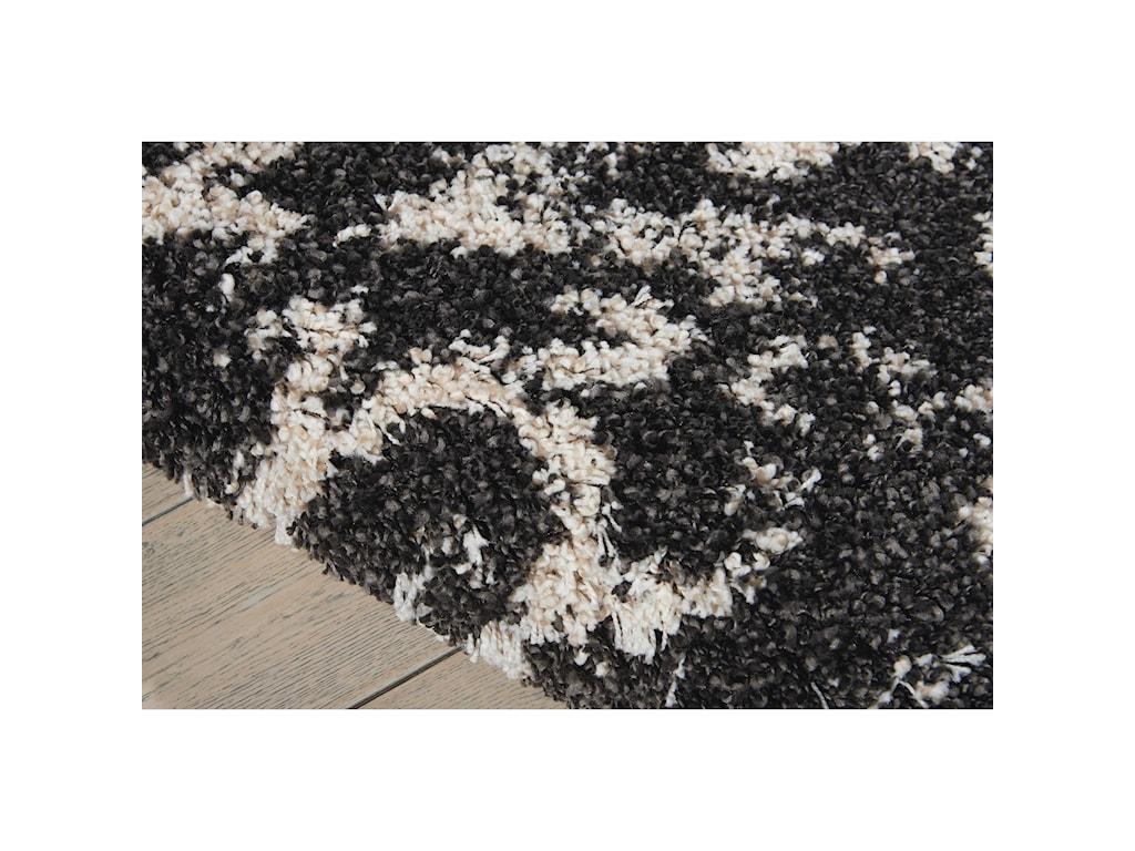 Nourison Brisbane5' x 7' Black/White Rectangle Rug