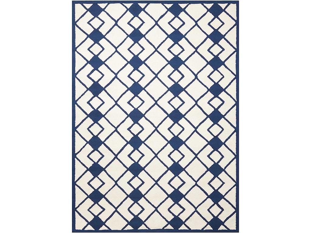 Nourison Decor15' X 7' Ivory/Navy Rug