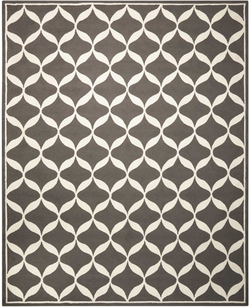 Nourison Decor1 8' X 10' Grey/White Rectangle Rug