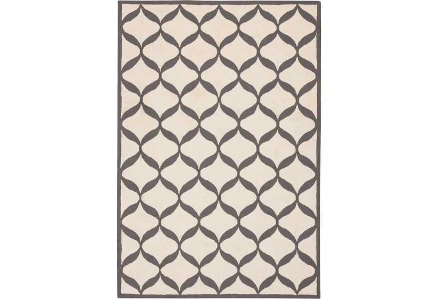 White Light Grey Rectangle Rug