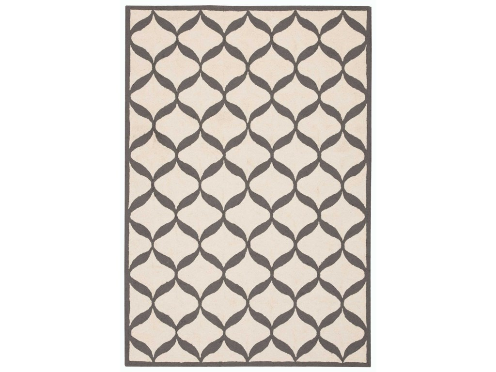 Nourison Decor15' X 7' White/Light Grey Rug