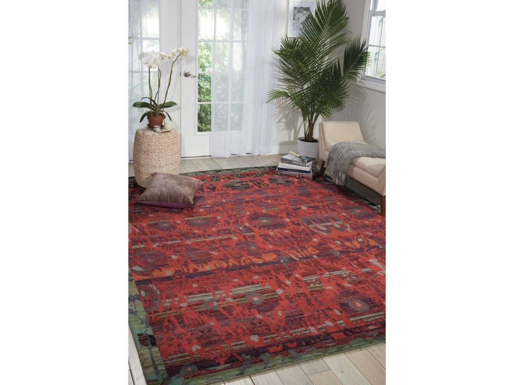 Nourison Dune12' x 15' Pomegranate Rectangle Rug