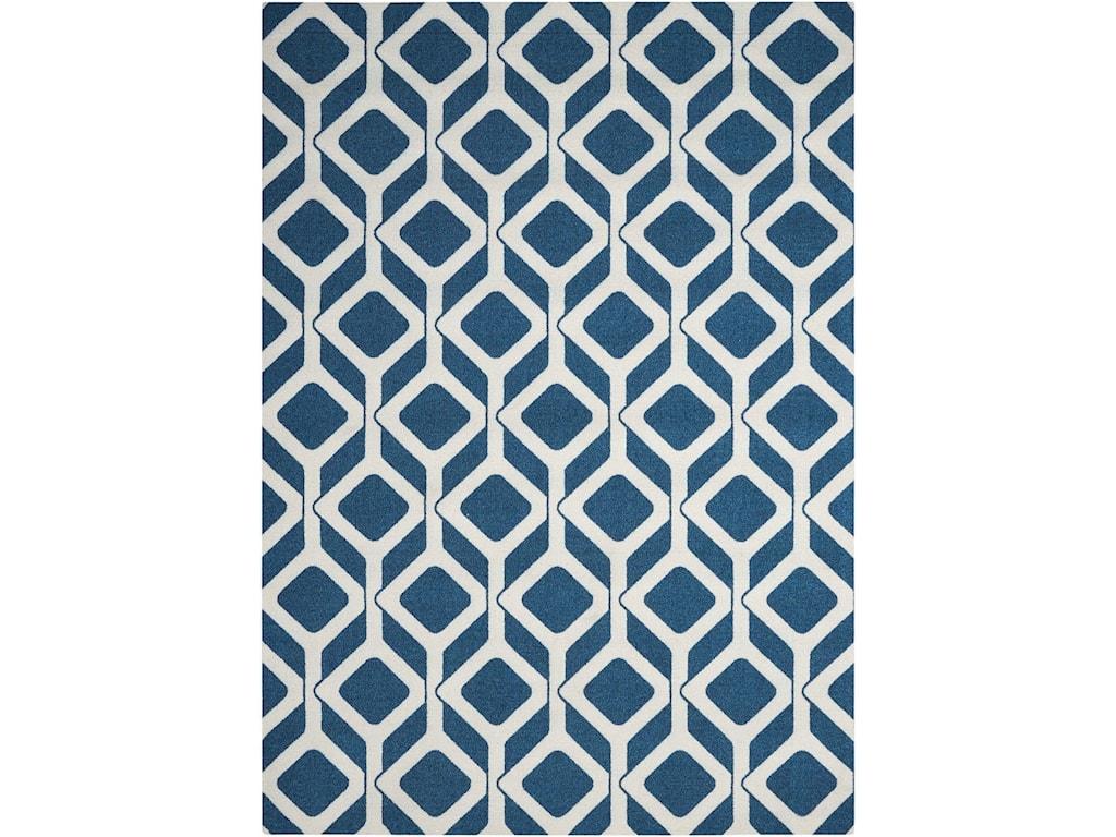 Nourison Enhance8' x 10' Cadet Blue Rectangle Rug