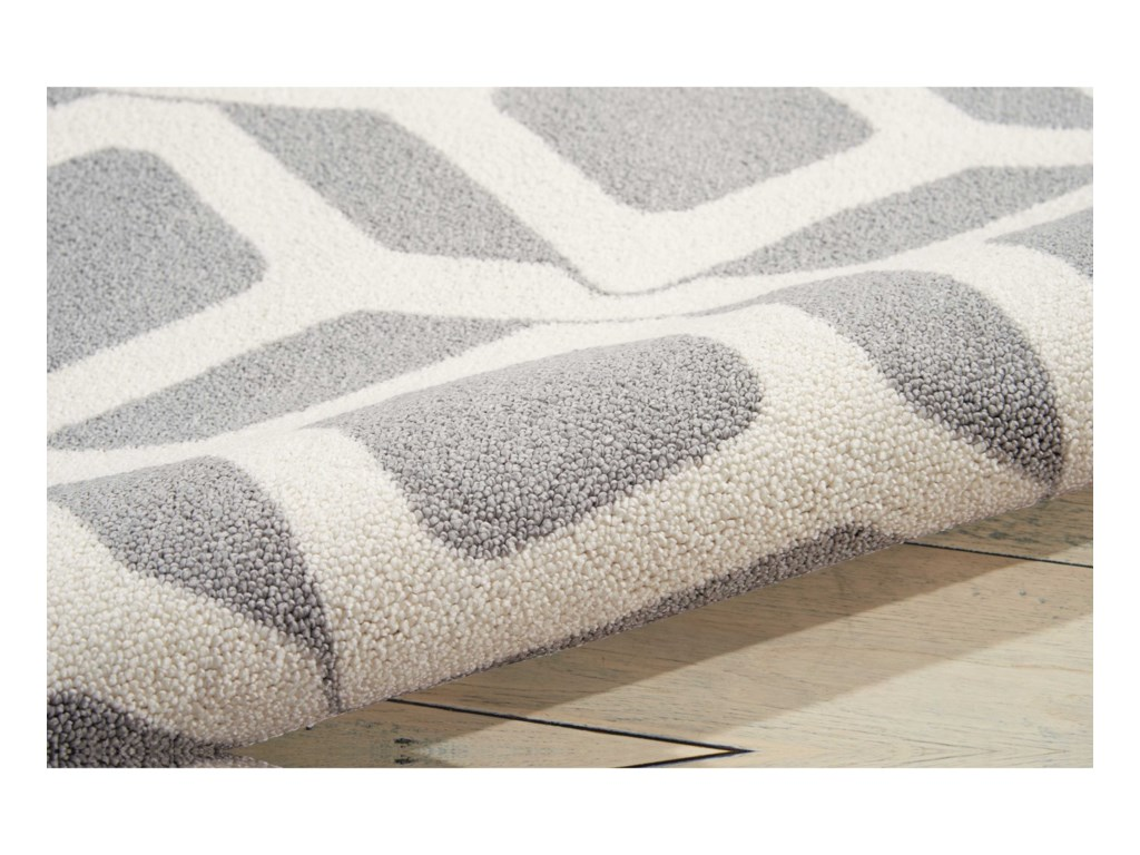 Nourison Enhance8' x 10' Grey Rectangle Rug